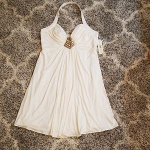 NWT Soft White Cocktail Dress by Maggie London  14